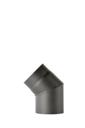 Ofenrohrbogen aus 2 mm starken Stahl (Rauchrohr) in 150 mm Durchmesser, für Kaminöfen und Feuerstellen, Senotherm, dunkelgrau, 45 Grad, ohne Reinigungstür
