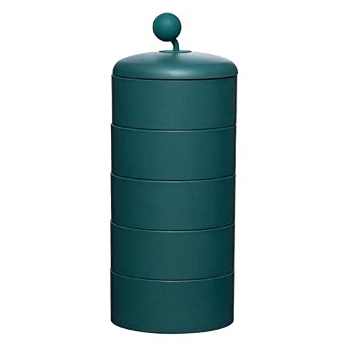 ENJY Joyero 360 ° Caja de joyería giratoria Torre Pendientes Soporte de Anillo Pendientes portátil Pendientes Pulsera Joyería 2pcs (Color : Green)