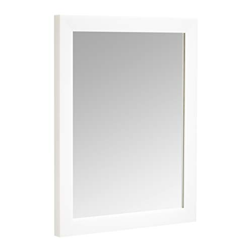 Amazon Basics Espejo para pared rectangular, 40,6 x 50,8 cm - marco estándar, blanco