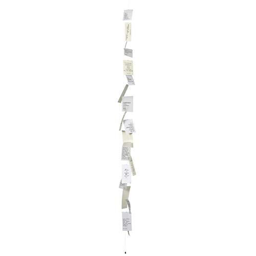 Räder - ZUHAUSE - Poesiekette - Fensterdekoration - Raumdekoration - Papier - weiß ca. 185cm lang