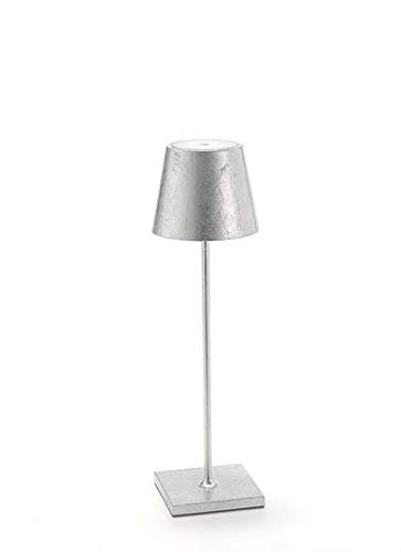 Zafferano Poldina-oplaadbare LED-tafellamp, dimbaar, aluminium behuizing, hoogte 38 cm, beschermingsklasse IP54