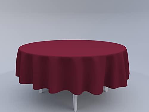 Tom'Shop Tovaglia [rosso vinaccia, Ø 100 cm] Tablecloth tovaglia, decorazione da tavolo
