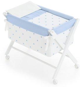Bimbi Romantic - Vestidura minicuna, color blanco y azul
