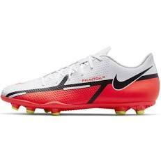 Nike Phantom GT2 Club FG/MG, Scarpe da Calcio Unisex-Adulto, White/Bright Crimson-Volt, 40.5 EU