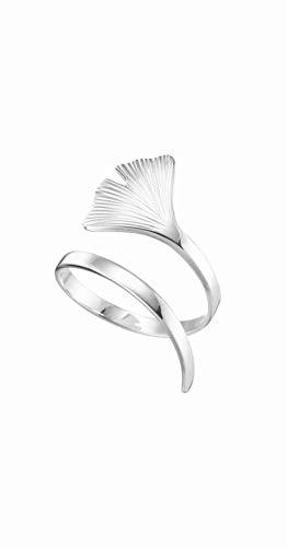 Neuer Ginkgo Ring aus 925 Silber, Ringweite 62, hochwertig von Hand angefertigt, made in Germany