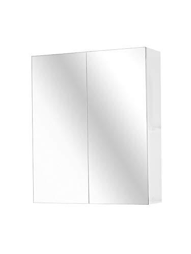 SAM Spiegelschrank Zesiro 60 cm, Weiß, Badspiegel-Schrank, pflegeleichtes Badmöbel