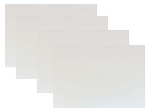 代引対応 カラーダンボール板 4枚セット カラー (グロスコートホワイト(ツヤあり白), 600×450)