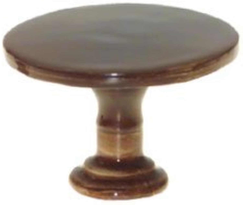 Dollhouse Furniture Brown Round Table Miniature Figurine New Porcelain KLIMA K194