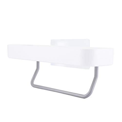 Estante de almacenamiento doble para baño, estante de almacenamiento de plástico, 28 x 10,5 x 8,8 cm, poner en la cocina con ABS
