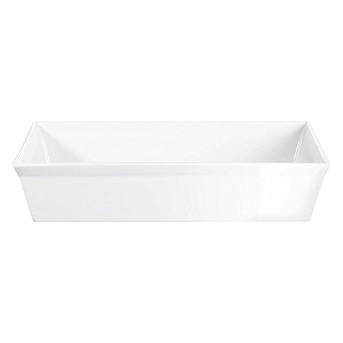 ASA 52048017 Plat à gratin en Porcelaine 18 x 13,5 x 7,5 cm, Blanc