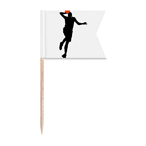 Slam Dunk Jumping Sports Basquete Palito Marcação de Etiquetagem para Festa Bolo Comida Cheeseplate