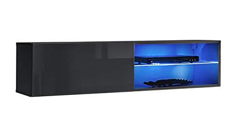 Stylefy Swotch RTV 4 Lowboard TV-Board Fernsehtisch (HxBxT): 30x120x40 cm Graphit Hochglanz   Graphit Matt