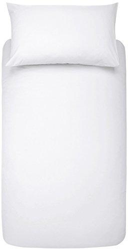 AmazonBasics - Juego de fundas de edredón y de almohada de microfibra, 135 x 200 cm + 1 funda 50 x 80 cm - Blanco