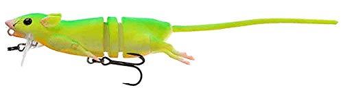 Savage Gear 3D Rad Ratte, Kunstköder im Ratten Design, Rattenimitat, Hechtköder, Angelköder zum Spinnfischen, Ausführung:Ratte komplett 20cm 32g Bloody Red Belly