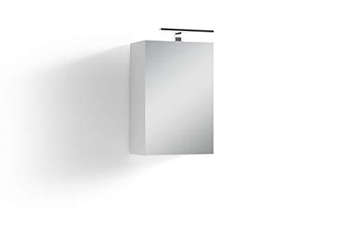 Homexperts Salsa Spiegelschrank, Weiß, 40 x 60 x 20cm (BxHxT)
