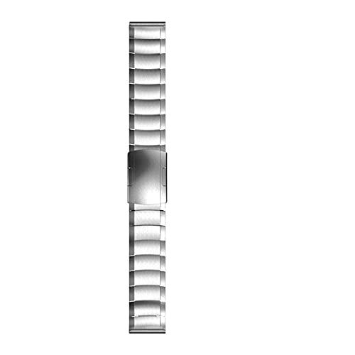 ZZDH Correas Relojes Metal Banda de Reloj de Acero Inoxidable Pulido 20 mm 22 mm Liberación rápida Reloj Metal Pulsera Blanco, Plata Adecuado para Hombres y Mujeres