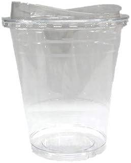 ニッチプラス(Nicheplus)テイクアウト用クリアカップ 420ml 専用フタ付(ストローレスリッド)50セット 14SL …