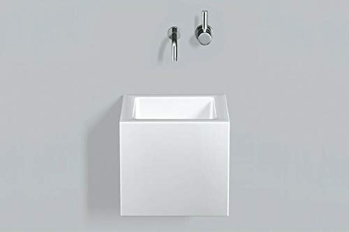 Alape Waschtisch WT.QS325X, quadratisch B: 329mm H: 300mm T: 349mm, 4271000000, weiß