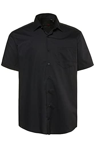 JP 1880 Homme Grandes Tailles Chemise à Manches Courtes Unie Noir 4XL 713990 10-4XL