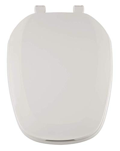 Centoco EMB601-001 Eljer Emblem Elongated Toilet Seat with Square Front, White