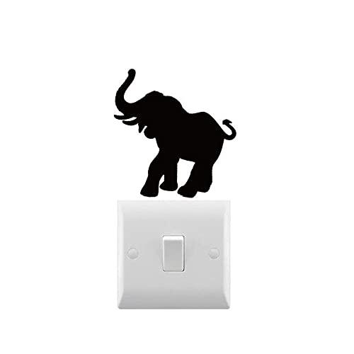 Novedad elefante calcomanía pequeña calcomanía de luz pegatina para ordenador portátil para el hogar interruptor de luz decoración extraíble arte decoración pegatinas 8X8cm