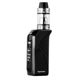 Vapioneer® Rival Schwarz | E-Zigarette 5-80 Watt Leistung | E-Shisha mit 2ml Tankinhalt für Liquid | Dampfer mit 2600 mAh Akku | Ohne Nikotin
