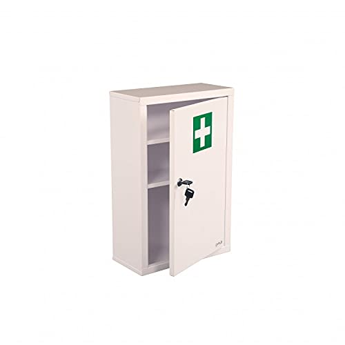 Oypla Wall Mounted Metal First Aid Medicine Medical Cabinet Locker