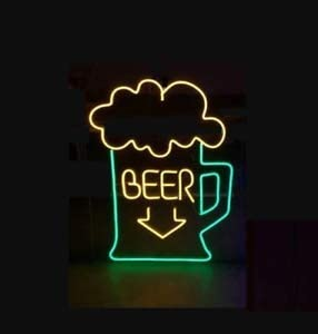 New popularity Amymami All items free shipping Beer Bar Mug Arrow Neon Sign Lamp 17inx14in Lig