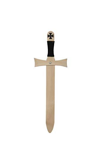 Schwert Templer ca. 45 cm Templerschwert Holzschwert Ritterschwert die Holzkiste Mittelalter Holspielzeug