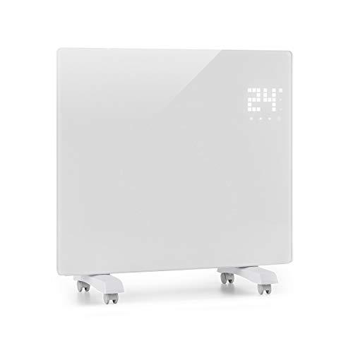 KLARSTEIN Bornholm Single - Radiateur à Convection, Pièces jusqu à 25 m2, Protection IP24, 1000 W, Chauffage Rapide, Télécommande, Ecran Tactile LED, Mode ECO, Blanc