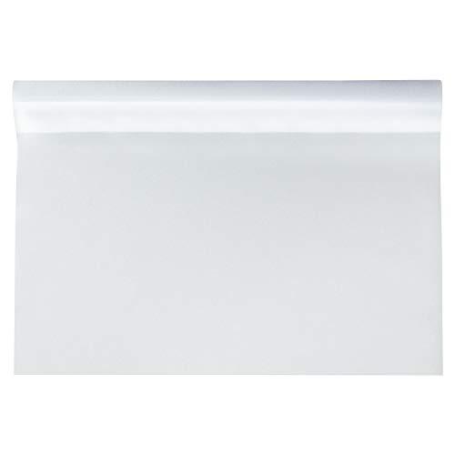 1PLUS Fensterfolie Milchglasfolie, SELBSTKLEBEND, statisch haftend, Sichtschutzfolie Blickschutzfolie für Fenster, Tür, Glas-Trennwand für Küche, Bad und Büro (90 x 200 cm, Milchglas)