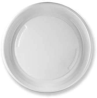 Virsus 490 piatti plastica rigida piani 14 cf x 35 pezzi bianchi articoli per feste stoviglie Diam 21 cm