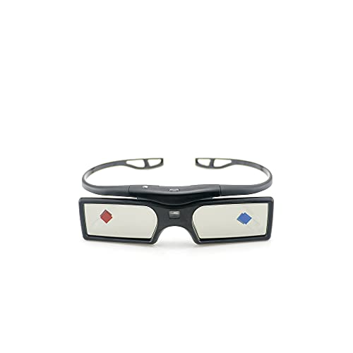 Signstek 2 Pack 2021 Newest Version Detachable 144Hz 3D Active Shutter Glasses for DLP-Link 3D Projector