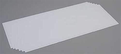 Evergreen–Placa de poliestireno, 6Unidades, Color Blanco