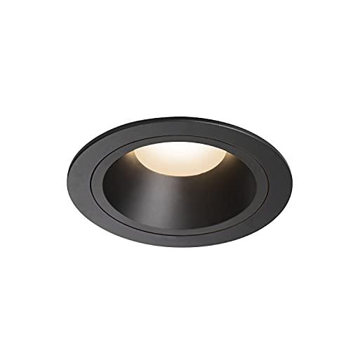 SLV Numinos DL L/LED, Foco de Techo, lámpara empotrable, iluminación Interior, IP20/IP44, 3000 K, 25,41 W, 2150 LM, Color Negro 20 Grados