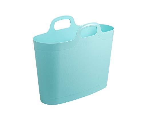 WHAM 29900 Groß Flexi Bag Tragetasche, Einkaufstasche aus Kunststoff - 24,5 Liter - blau
