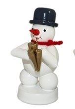 Weihnachtsdekoration Schneemann mit Schalmei Höhe 8cm Schnee Eismann Winterfigur Winterdekoration Figur Holz Seiffen Erzgebirge Holz Dekoration Weihnachten