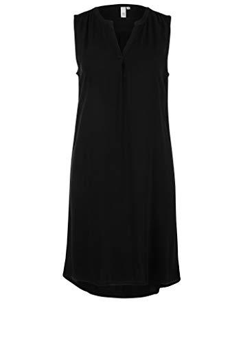 Q/S designed by - s.Oliver Damen Leichtes Kleid aus Viskose Black 38