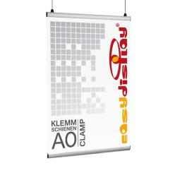 Plakatschienen, Clamp, Posterschienen DIN A0/84,1cm Klemmschienen, Posterklemmen