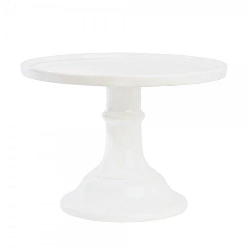Miss Etoile - Kuchenständer - Tortenplatte - Keramik - weiß Höhe 19 Ø 25cm
