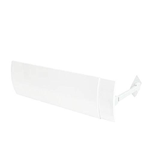 YChoice365 Aire Acondicionado Deflector De Viento Deflector Anti-soplado Directo Protecci/ón Aire Acondicionado Retr/áctil Escala Deflector Viento Ajustable Gu/ía Aire Mes Escudo Blanco