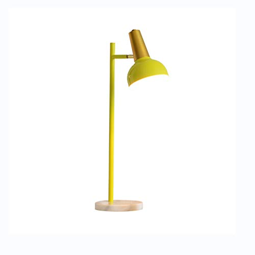 Home Improvement/Lighting & Ceiling Fans/Lamp Table Lamp Yellow Table Lamp Simple Modern Vertical Bedroom Table Lamp Creative Personality Wrought Iron Study Table Lamp Best Gift