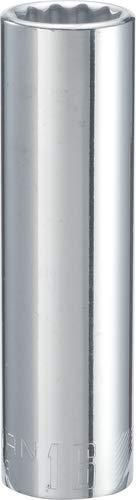 CRAFTSMAN Deep Socket, Metric, 1/2-Inch Drive, 16mm, 12-Point (CMMT44443)