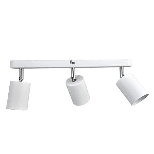 Soporte Para Lámpara De Techo, Base De Luz De Techo Flexible Para Sala De Estar Para Mercado Para Cocina(Tira larga de tres cabezas blanca)