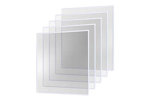 empasa Insektenschutz Fliegengitter Fenster Alurahmen Basic weiß braun anthrazit, 120 x 140 cm 5er SET