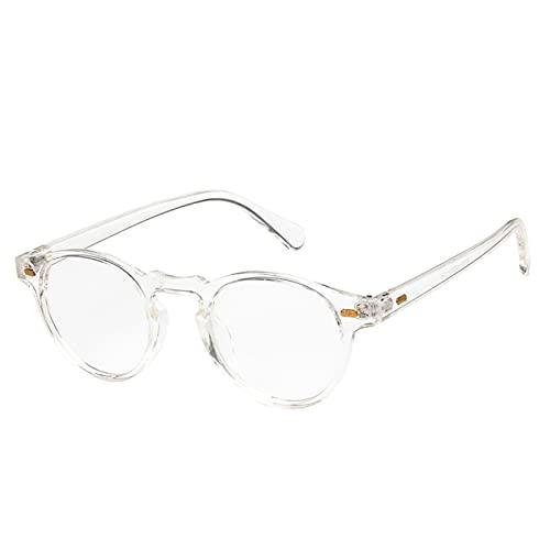 ASZX Pequeñas Gafas de Sol para Hombres Clásico Retro pequeño Ronda UV400 Gafas de Sol Tendencia All-Match Gafas de Sol Transparentes para Mujeres 713 (Lenses Color : 6 Transparent, Size : One Size)