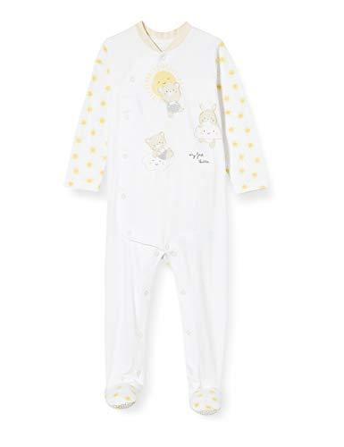 Chicco Tutina Unisex con Apertura Frontale Mono Corto, Blanco (Bianco 033), 86 (Talla del Fabricante: 086) para Bebés