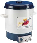 ROMMELSBACHER Einkoch-/Kochautomat KA 1800 - 2-Schicht-Emaillierung, 27 Liter/für 14 Gläser à 1 Liter, stufenlos regelbar, Entsafterschaltung, Überhitzungsschutz, Einlegerost, 1800 Watt