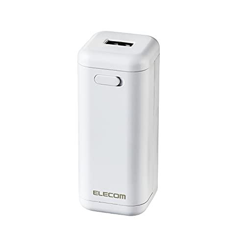 エレコム モバイルバッテリー 乾電池式 単3電池×4本付属 Type-A×1 ホワイト DE-KD01WH