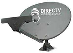 Ready to Install Package : New at&T Directv HD Satellite Dish SWM5 LNB + RG6 COAXIAL Cables Included Ka/ku Slim Line Dish Antenna SL5 AU9 Single Output W/ 4 Port Splitter